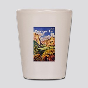 Yosemite Travel Poster 2 Shot Glass