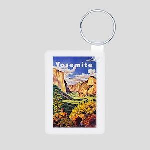 Yosemite Travel Poster 2 Aluminum Photo Keychain