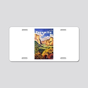 Yosemite Travel Poster 2 Aluminum License Plate
