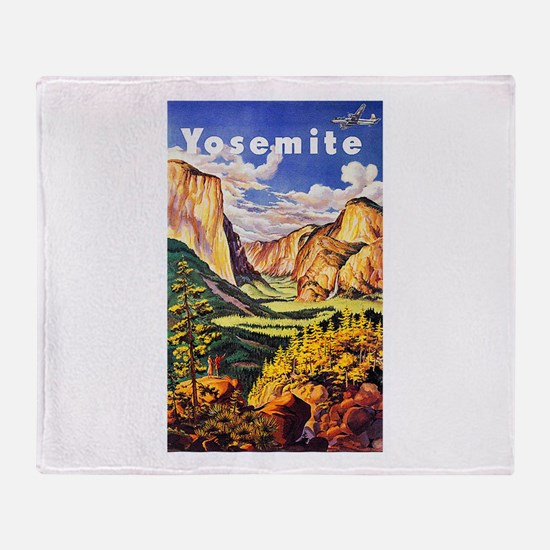 Yosemite Travel Poster 2 Throw Blanket
