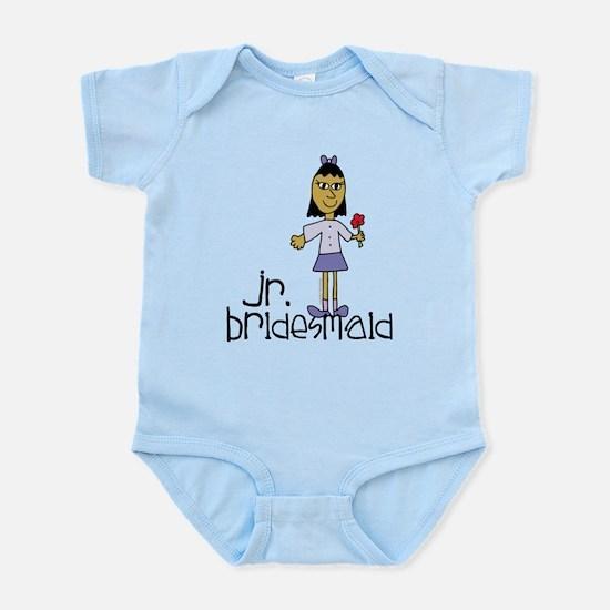 Jr Bridesmaid Purple Infant Bodysuit