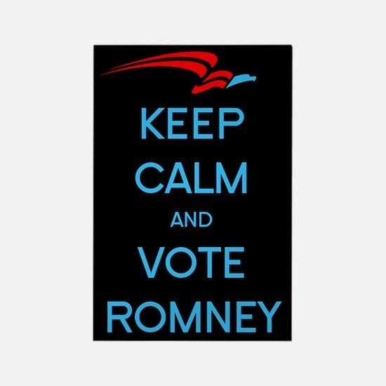 Keep Calm Vote Romney Rectangle Magnet