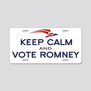 Keep Calm Vote Romney Aluminum License Plate