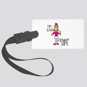I'm the Flower Girl Large Luggage Tag