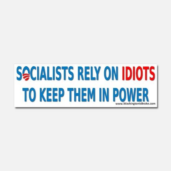Socialist Idiots Car Magnet 10 x 3