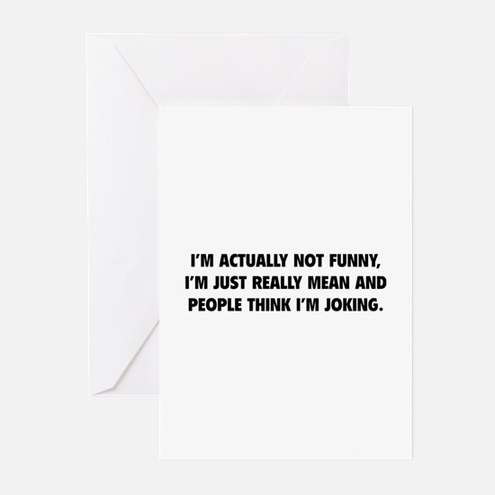 I'm Just Really Mean Greeting Cards (Pk of 10)