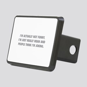 I'm Just Really Mean Rectangular Hitch Cover