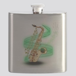 Saxophone wrap Flask