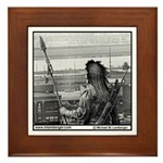 Chief Wapello and the River Framed Tile