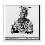 Chief Wapello - portrait Tile Coaster