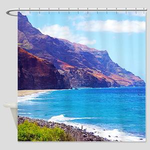 Kalalau Hawaii Tropical Shower Curtain
