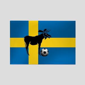 Sweden Soccer Elk Flag Rectangle Magnet
