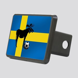 Sweden Soccer Elk Flag Rectangular Hitch Cover