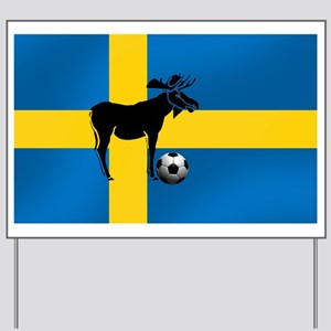 Sweden Soccer Elk Flag Yard Sign