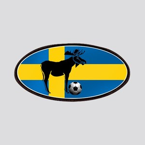 Sweden Soccer Elk Flag Patches