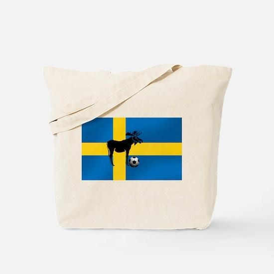 Sweden Soccer Elk Flag Tote Bag