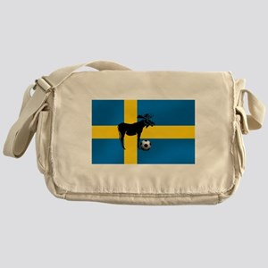 Sweden Soccer Elk Flag Messenger Bag