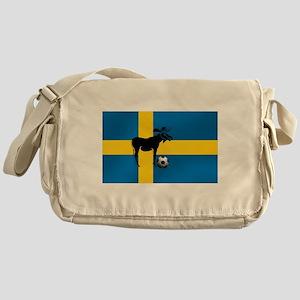 Sweden Soccer Elk Flag Messenger Bag