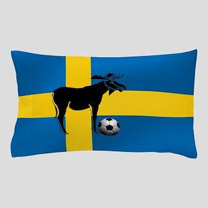 Sweden Soccer Elk Flag Pillow Case