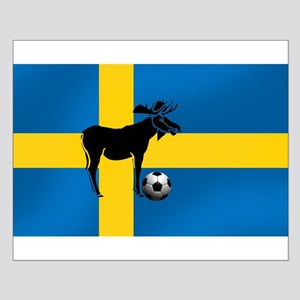 Sweden Soccer Elk Flag Small Poster