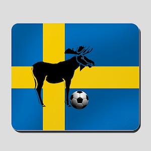 Sweden Soccer Elk Flag Mousepad