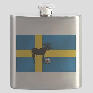 Sweden Soccer Elk Flag Flask