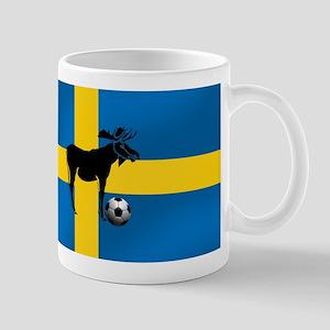 Sweden Soccer Elk Flag Mug