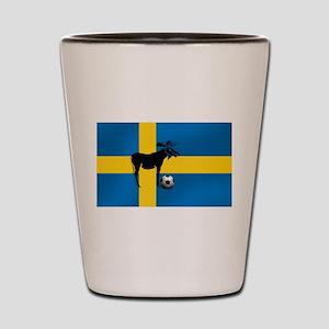 Sweden Soccer Elk Flag Shot Glass