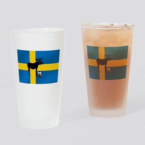 Sweden Soccer Elk Flag Drinking Glass