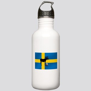 Sweden Soccer Elk Flag Stainless Water Bottle 1.0L