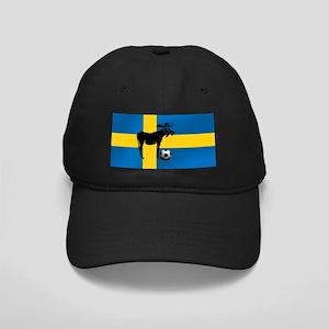 Sweden Soccer Elk Flag Black Cap