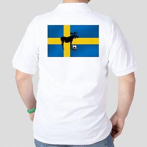 Sweden Soccer Elk Flag Golf Shirt