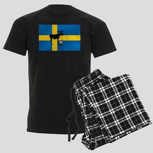 Sweden Soccer Elk Flag Men's Dark Pajamas
