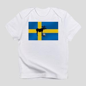 Sweden Soccer Elk Flag Infant T-Shirt