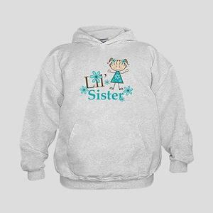 Little Sister Stick Figure Kids Hoodie
