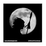 Chief Wapello Against the Moon Tile Coaster