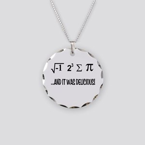 I Ate Some Pie Necklace Circle Charm