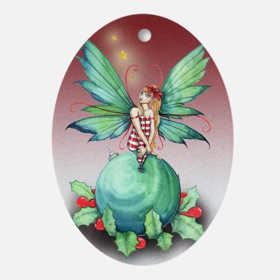 Little Christmas Fairy Ornament (Oval)