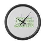 I Cook Merchandise Large Wall Clock