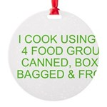 I Cook Merchandise Round Ornament