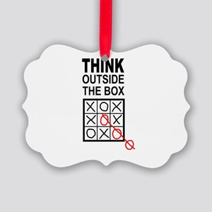 Think Outside the Box Picture Ornament