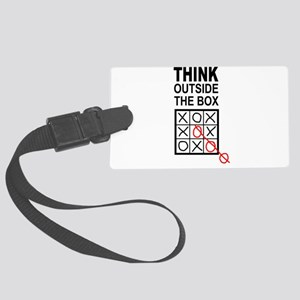 Think Outside the Box Large Luggage Tag