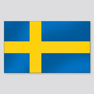 Flag of Sweden Sticker (Rectangle)