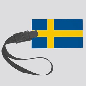 Flag Of Sweden Large Luggage Tag