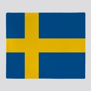 Flag of Sweden Throw Blanket