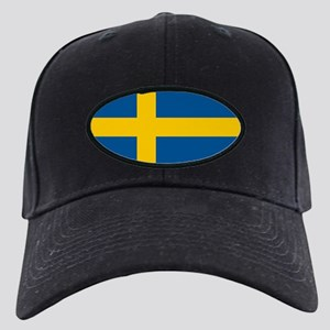 Flag of Sweden Black Cap
