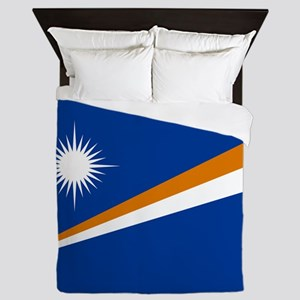 Marshall Islands Flag Queen Duvet