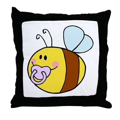 Cute bee Throw Pillow