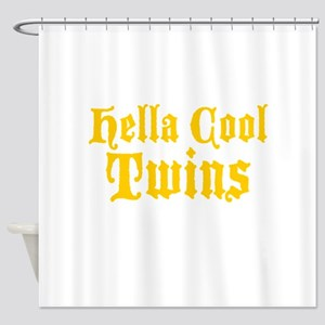 hella Cool Twins Shower Curtain