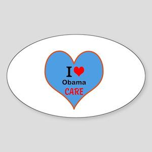 I (heart) ObamaCare Sticker (Oval)